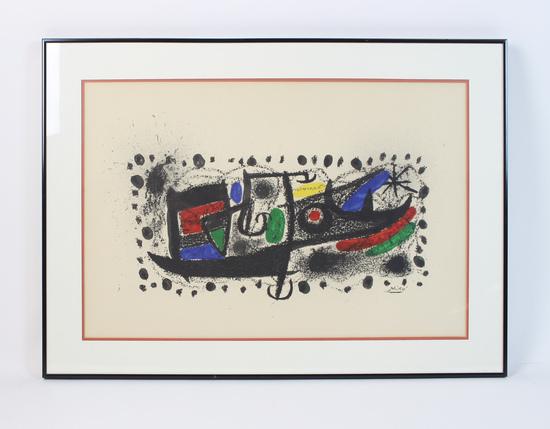 Framed Lithograph of Miro Art