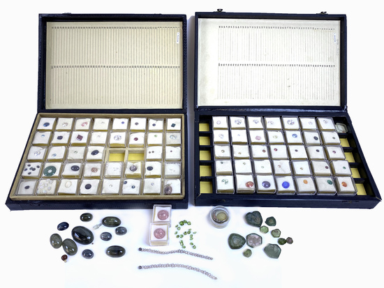 Large 100+ Gemstone Collection With Various Stones, Cuts, Carats, Colors