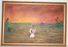 Florida Highwaymen Painting by Chico Wheeler  - Seminole w/ Canoe on old masonite board