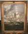 Stunning Antique Oil On Canvas Painting Of Ship - Signed By R. Longmane?
