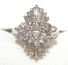 14k Gold Diamond Cluster Ring - Size 6