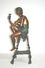 Ferdinando De Luca Fabulous Bronze Statue of Lady Sipping Champagne and sitting on stool