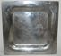 Antique Pewter? German Plate/Charger Nazi Luftwaffe Etchings of Plane & Eagle - Militaria Hitler
