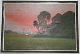 Highwayman Painting by Horace Foster 2' x 3' on Masonite - Landscape
