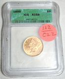 1899 United States $5 Liberty Head Coin - Graded by ICG - AU58