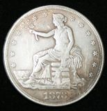 1878 United States of America Trade Dollar - 420 Grains 900 Fine Silver Coin
