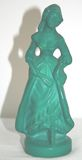 Vintage Moser Malachite Glass of Victorian Woman / Lady