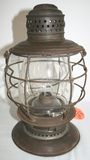 Antique CRR Central Railroad Lantern w/ Etched Glass