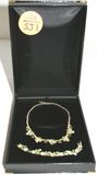 Vintage Weiss Costume Jewelry Necklace & Bracelet Set in Velvet Box