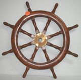Wooden Vintage Ships Wheel - Pirate Booty?