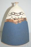 Pottery Clay Vase Signed Selby? C. 1989