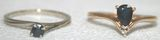 Lot of 2 Vintage Gold & Sapphire Rings