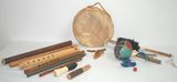 Native American Indian Musical Instruments / Noise Makers & Re-enactment instruments