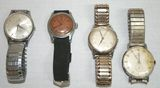 Lot of 4 Vintage Men's Watches - Muralt, Sovereign, Bulova, Waltham