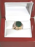 4.05 Ct Emerald & Diamond Ring set in 14K Yellow & White Gold - Appraised by GLA for $4,203.00