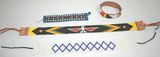 Lot of 4 Vintage Beaded Native Amrican Necklaces/Band & Bracelets