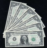 6 Consecutive Numbered Joseph Barr Notes GEM Uncirculated