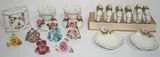 Lot of Assorted Antique Dresden China Table Setting Accessories