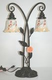 Quoizel Double Tulip Lamp - Signed