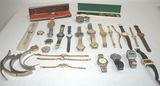 Huge Lot of Vintage Asstd Men's/Women's Watches, Band & Parts - Bulova, Elgin, Seiko, Lucien Piccard