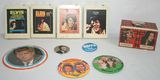 Nostalgic 60-70's Lot of Elvis 8-Tracks, Kennedy Campaign Buttons, & Charlie's Angels Collector Card