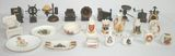 Doll Furniture/Pencil Sharpeners & Miniature Porcelain Items
