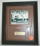 Vintage Mickey Mantle Autogrpahed Photo in Professionally Matted Frame with COA