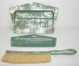 Antique Early Plastic 3Pc Butler Crumb Brush & Tray Set - Fuller USA