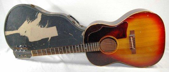 Vintage Gibson Six String Acoustic Guitar Sunburst