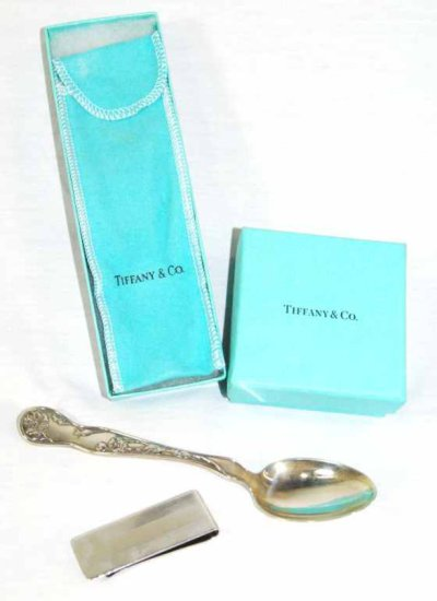 Tiffany & Co. Sterling Silver Spoon & Money Clip w/ Boxes