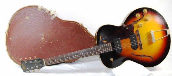 Vintage Gibson Electric Guitar Sunburst ES 125 TD – 1950's