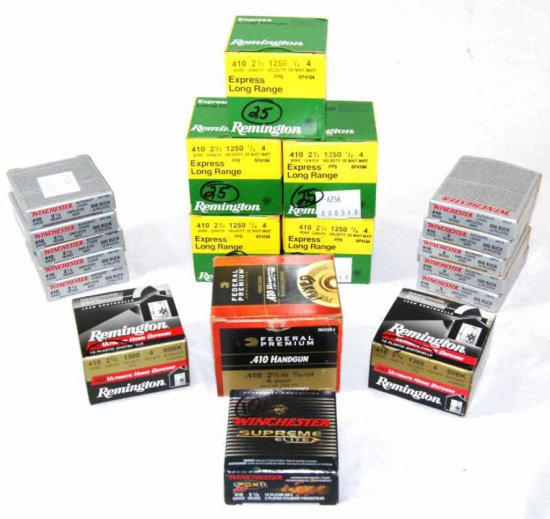 Lot of 232 Rounds of .410 Remington, Winchester, and Federal Shotgun Shells