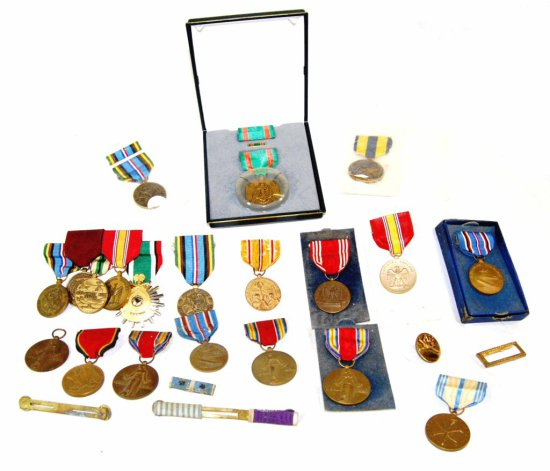 Vintage Collection of 20+ United States Military Medals