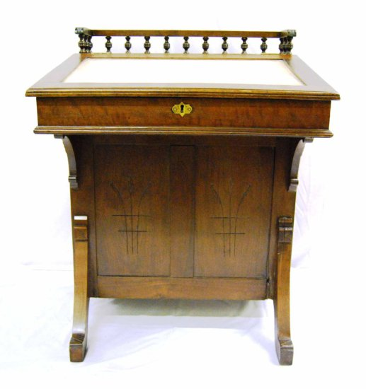 Victorian Eastlake Davenport Travel Desk