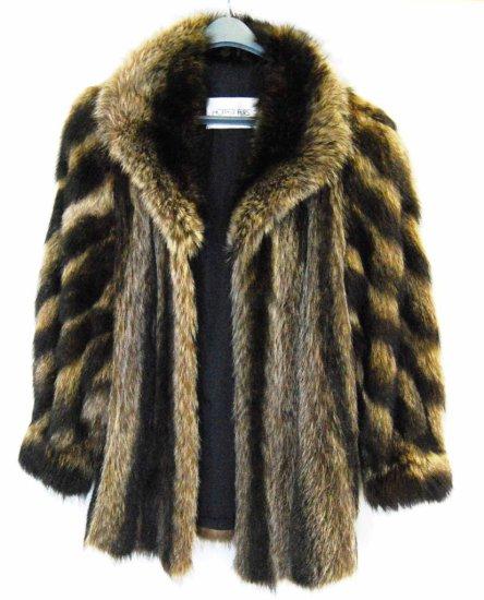 Vintage Raccoon Fur Coat by Hopper Furs
