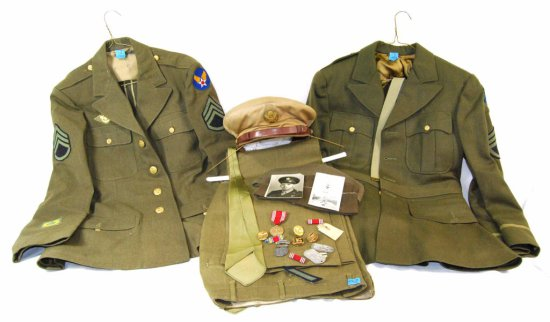 Collection of WWII Army Air Corps Uniform & Memorabilia