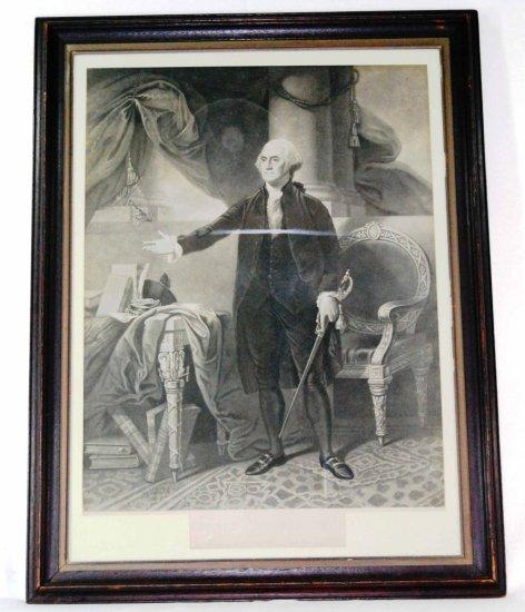 Early 1844 Engraving of George Washington, by H.S. Sadd & G. Stuart