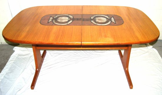 Vintage Gangso Mobler Mid-Century Modern Dining Table w/ Tiles