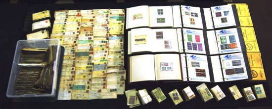 Collection of US & Foreign Stamps & Postal Correspondence