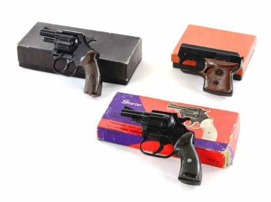 Vintage Collection of German & Italian Starter Pistols w/ Original Boxes