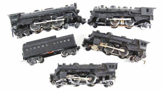 Vintage Lionel & Marx Collection of 4 Model Train Engines & a Coal Car