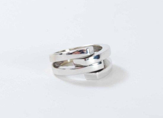 14K White Gold Italian Adjustable Ring