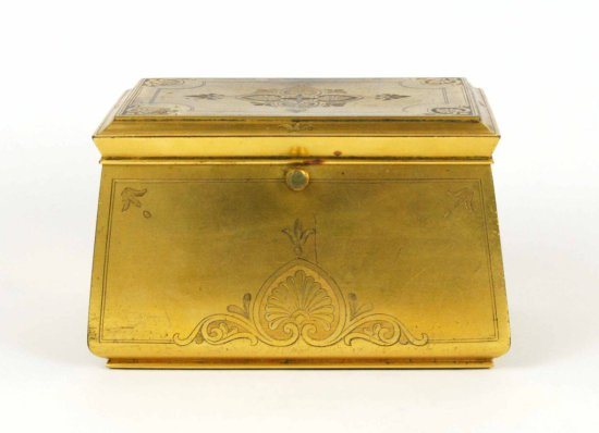 Antique Gold Ormolu Art Deco Dresser Box, H. Rodrigues, 42 Picadilly