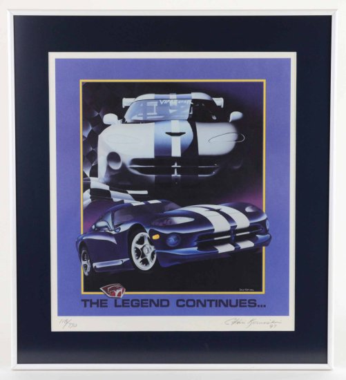 """Dodge Viper """"The Legend Continues"""" Signed & Numbered Print by Listed Artist, Chris Kaminski"""