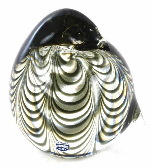 RARE Murano Cenedese Vetri Signed Art Glass Bird Figure, 1976