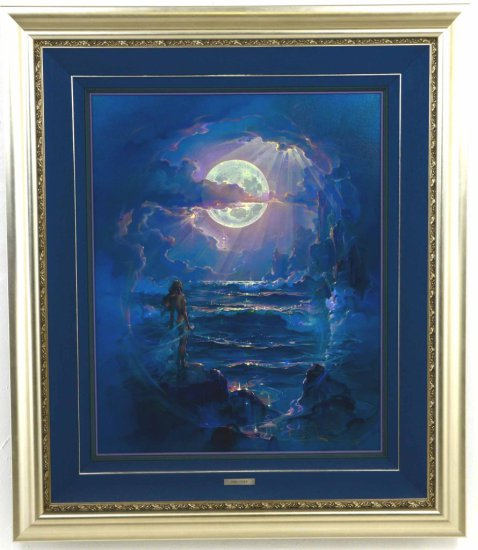 """Listed Artist, John Pitre, Giclee on Canvas, of """"Moonlight Nude"""""""
