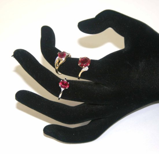 Collection of Three Ruby & 10K Gold Rings