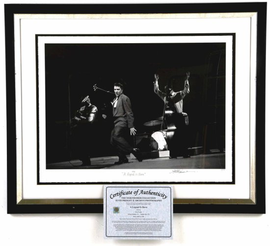 """Elvis Presley, """"A Legend is Born"""", Limited Edition Framed Giclee Print, by Alfred Wertheimer"""