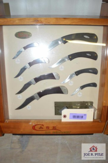 Case counter top display, slant front 18x16 w/ 9 pieces