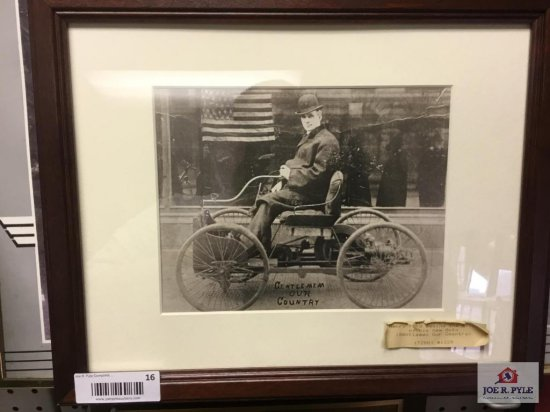 """Henry Ford """"Behind the stick of his new auto"""" Photograph 1896 (11""""x13.5"""")"""